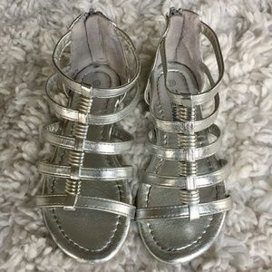 Other - Silver Gladiator Sandals in size 12